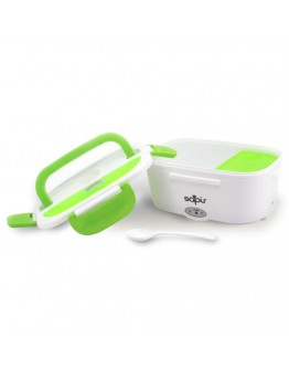 Електрическа кутия за храна Sapir SP 1177 AH, 40W, 1.5 литра, Две отделения, Клапан за пара, Бял/зелен