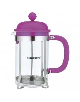 Френска преса за кафе и чай Klausberg KB 7080, 800 мл, Стъкло, Различни цветове