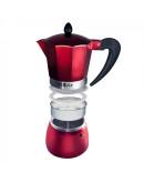 Кубинска кафеварка SAPIR SP 1173 I9R, 9 чаши, Червена