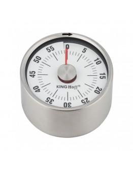 Кухненски таймер Kinghoff KH 3176, 6.1х3.5 см, С магнит, Механичен, 0-60 минути, Инокс