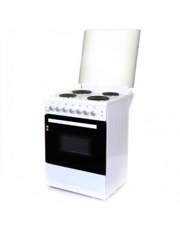 Електрическа готварска печка ZEPHYR ZP 1441 4E60,4 котлона, 58 литра, Клас А, Бял