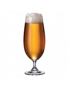 Комплект чаши за бира Bohemia Sylvia Beer, 6 бр, 380 мл, Кристалит