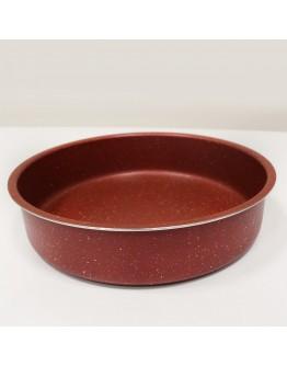Комплект тави за печене Impoamor RI 2617-2, 3 броя, 28/32/36 см, Мраморно покритие, Керемида