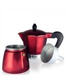 Кубинска кафеварка SAPIR SP 1173 I3R, 3 чаши, Червена