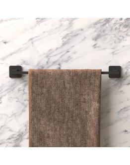 Права закачалка за кърпи и хавлии TEKNO TEL TR MG 360, 47х6х5 см, Закрепване с дюбел, Матово черно