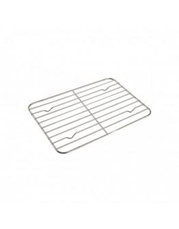 Тава за печене с дръжки и подвижна решетка-грил Kinghoff KH 1378, 40 см, Неръждаема стомана, Сребрист