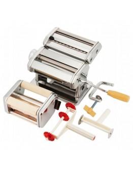 Уред за прясна паста Zilner ZL 5210, Приставки за равиоли, спагети, фетучини, лазаня, талиатели, Инокс