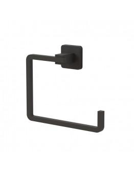 Закачалка за кърпа TEKNO TEL TR MG 335, 19х14х6 см, Закрепване с дюбел, Матово черно