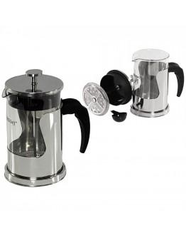 Френска преса за кафе и чай Kinghoff KH 4840, 600 мл, Стъкло, Инокс