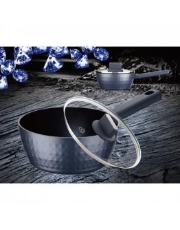Касерола с капак Peterhof Meisterklasse Diamond MK 1039, 18 см, Гранитно покритие, Релеф диамант, Индукция, Сив