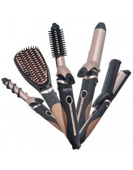 Комплект за оформяне на коса Camry CR 2024, 5в1, Керамично покритие, 1200W, Златист/Черен