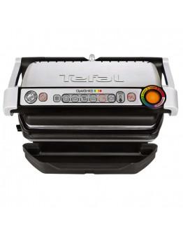 Контактен грил Tefal OptiGrill GC712D34, 2000W, 6 програми, Индикатор за степен на изпичане, Сензор за готвене, Сребрист