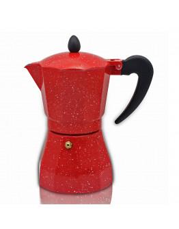 Кубинска кафеварка ZEPHYR ZP 1173 N6, 6 чаши, Червено/черно
