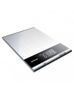 Кухненска дигитална везна Sencor SKS 5305, 5 кг, LCD екран, Неръждаема стомана, Сребрист