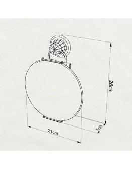 Огледало за баня TEKNO TEL TR DM 230G 21х6х28 см, Вакуум, Златист