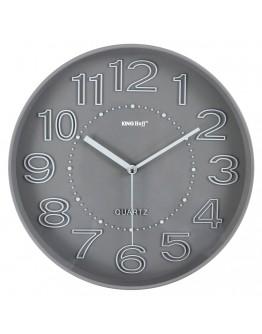 Стенен часовник KingHoff KH 1020, 30.3 см, Аналогов, Сив