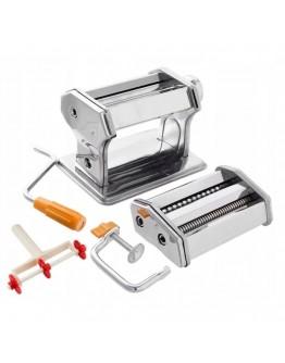 Уред за прясна паста Zilner ZL 5215, Приставки за спагети, фетучини, лазаня, талиатели, Инокс
