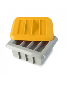 Комплект за приготвяне на домашни барчета IBILI IB 747000, 12 блокчета, Жълт/сив
