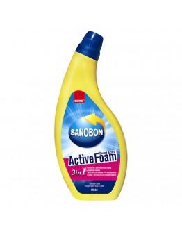 Почистващ препарат за тоалетна Sano Sanobon Active Foam, 3в1, 750 мл.
