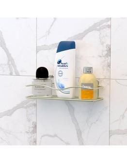 Поставка за баня на едно ниво TEKNO TEL TR BK 011G, Закрепване с дюбел, Златист