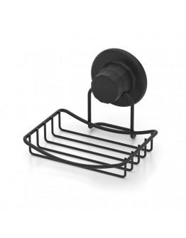 Поставка за сапун TEKNO TEL TR DM 265B, 13х12х10 см, Вакуум, Черен