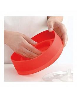 Силиконова купа за пуканки в микровълнова Kinghoff KH 1258, BPA Free, от -40 до +230ºC, Червен