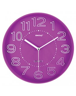 Стенен часовник KingHoff KH 1020, 30.3 см, Аналогов, Розов