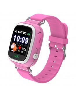 Детски смарт часовник Xmart KW03G, GPS локация, SOS функция, IP67, Розов