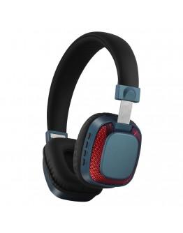 Стерео слушалки Xmart 07L, Bluetooth 4.2, LED светлини, Кабел, Сини
