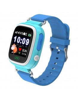 Детски смарт часовник Xmart KW03G, GPS локация, SOS функция, IP67, Син