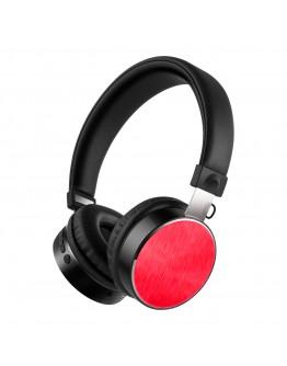 Стерео слушалки Xmart 05R, Bluetooth 4.2, Кабел, Червени