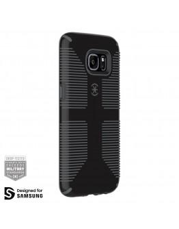 Протектор Speck CandyShell Grip за Samsung Galaxy S7 Edge, Black/Slate Grey