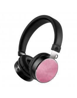 Стерео слушалки Xmart 05R, Bluetooth 4.2, Кабел, Розови