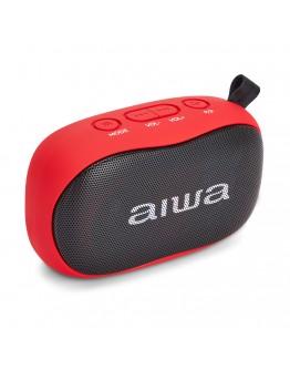 Преносим Bluetooth стерео високоговорител Aiwa BS-110RD, microSD, Handsfree, 10W, Червен