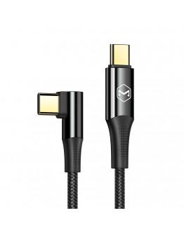 USB Type-C към USB Type-C 90° PD кабел Xmart, 5A, 100W, 1.2м, Черен