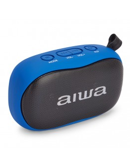 Преносим Bluetooth стерео високоговорител Aiwa BS-110BL, microSD, Handsfree, 10W, Син