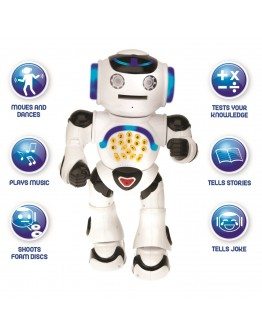 Детска интерактивна играчка, смарт образователен робот Powerman, Дистанционно управление
