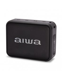 Преносим Bluetooth високоговорител Aiwa BS-200BK, True Wireless, Handsfree, IPX6, 6W, Черен