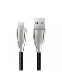 USB Type-C кабел Xmart Excellence Series, 5A, 1.0м, Черен