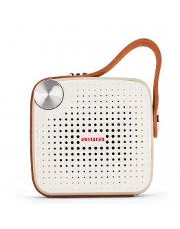 Преносим Bluetooth високоговорител Aiwa BS-100GY, Handsfree, IPX4, 4W, Бял/Сив