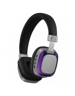 Стерео слушалки Xmart 07L, Bluetooth 4.2, LED светлини, Кабел, Сиви
